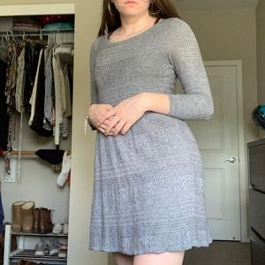 3/4 Sleeve Knit Patterned Dress